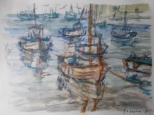 Brixham Harbour Boats