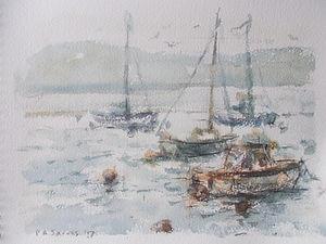 Early Morning Boats, Teign Estuary, Devon