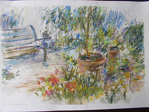 The Cottage Garden with Bench