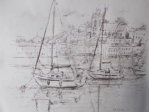 Boats at Torquay Harbour