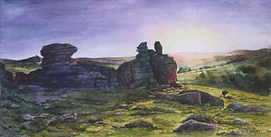 Last Light at Hound Tor, Dartmoor
