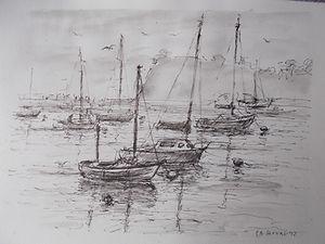 Boats at Teign Estuary, Devon