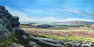 Dartmoor Looking West from Haytor