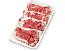 "NY STRIP STEAK, BONE-IN FAMILY PACK ""BEEF TOP LOIN STEAK, BONE-IN"""