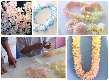 フラダンサーのための花飾り🌸ご注文受付中です!