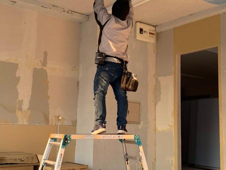 てといろ準備室~天井塗装編