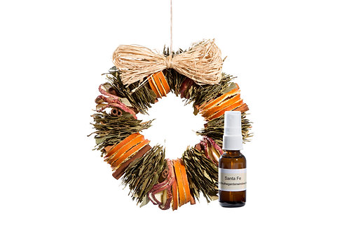 Santa Fe Wreath with Refresher Oil
