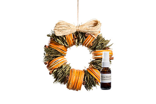 Orange Blossom Wreath with Refresher Oil