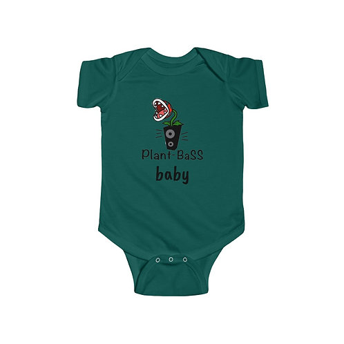 Plant Bass Baby Short Sleeve Infant Bodysuit