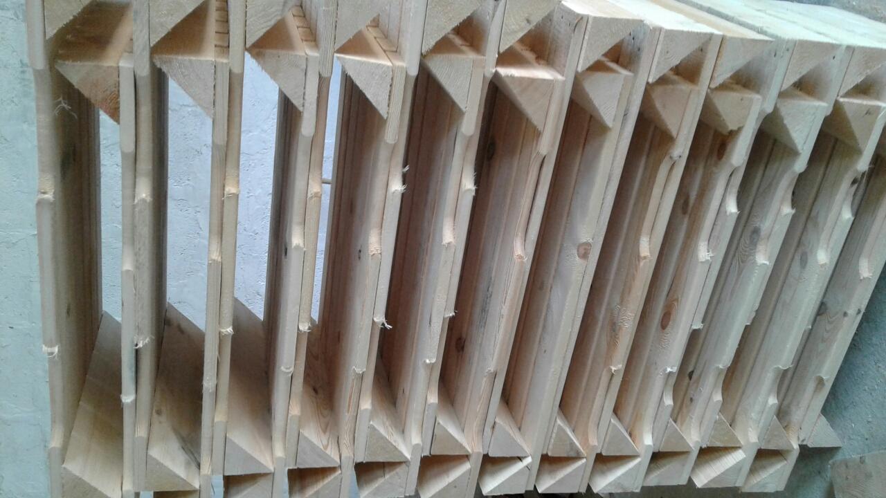 боковой щит деревянного контейнера