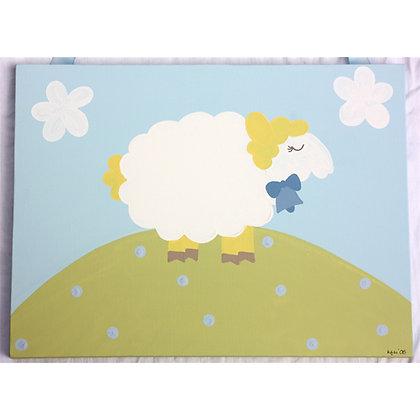 blue lamb 16x20
