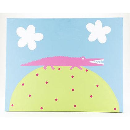 pink gator 16x20