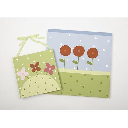3 flowers set