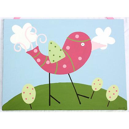 pink bird 16x20
