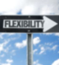 Flexibility direction sign with sky back