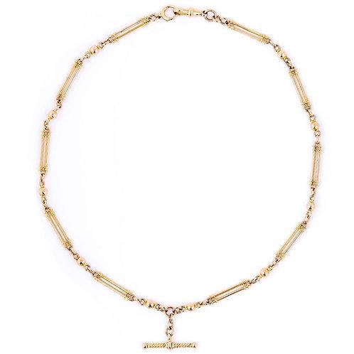 """Edwardian 15ct Gold Fancy Link Albert Watch Chain, 18"""""""