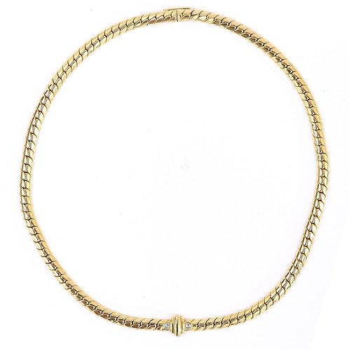 Modern Diamond Serpentine Collarette Necklace