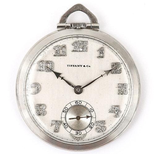 Art Deco Tiffany & Co. Platinum and Diamond Pocket Watch