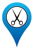 Hair salon location icon