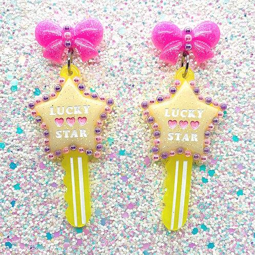 Yellow w/Pink Key 2 My Heart Dangles