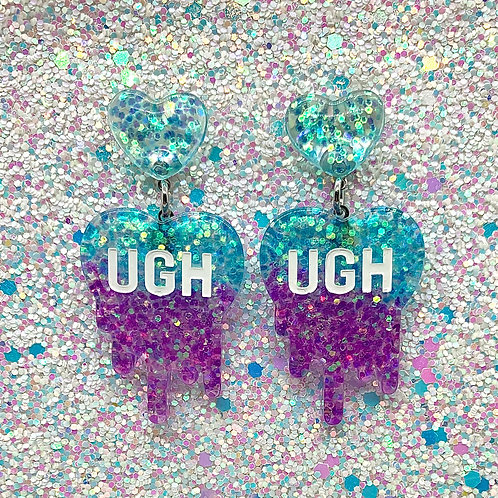 Blue-Purple Glitter Ughs