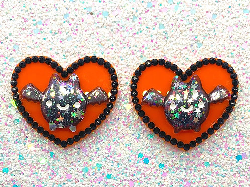 Going Batty Hearts in Halloween Color Way