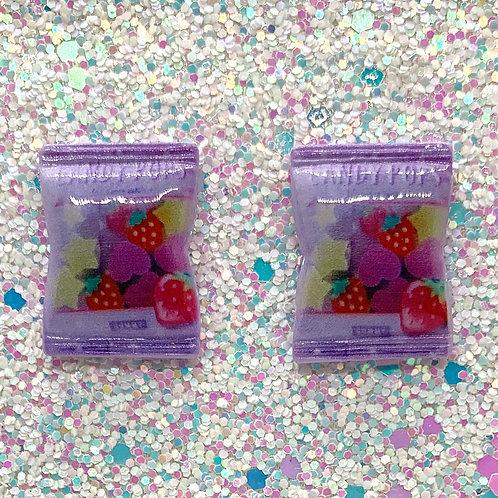 Purple Candy Studs