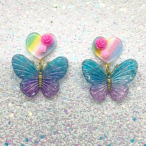 Butterfly Dangles in Blue