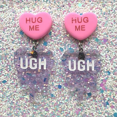 Iridescent Purple w/Pink Convo Heart Ughs