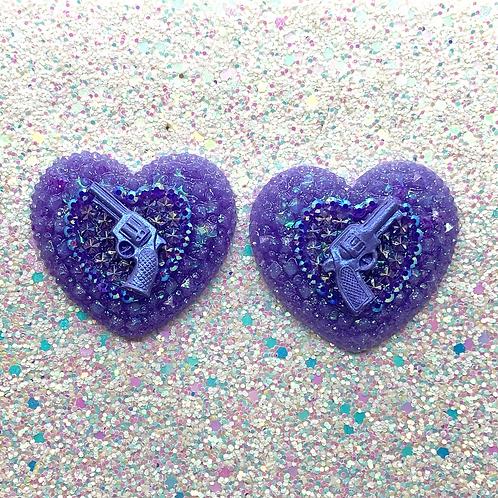 Purple Trixie Hearts