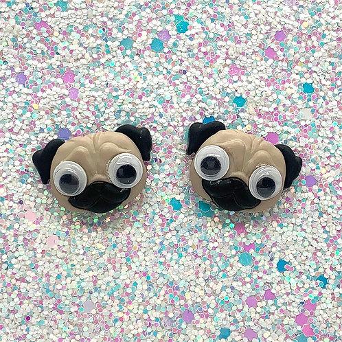 Googley-Eye Pug Studs