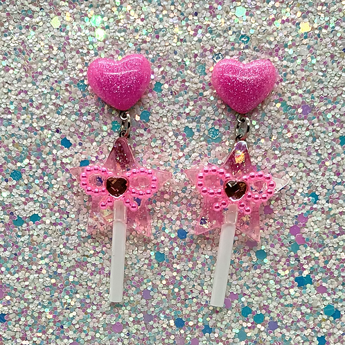 Magic Wand Pops in Pink
