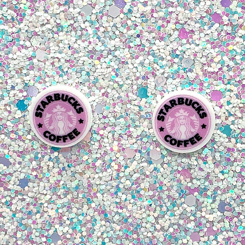 Dime-Size Studs in Pinkin'  Spice Latte
