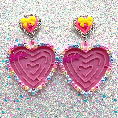 Rainbow Barbie Maze Hearts - Pink/Yellow