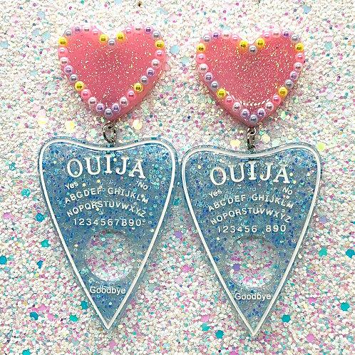 Pastel Blue w/Pink Heart Ouijas