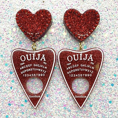 Red Glitter Heart Ouijas