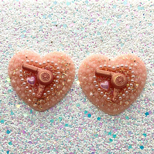 Rose Gold Trixie Hearts