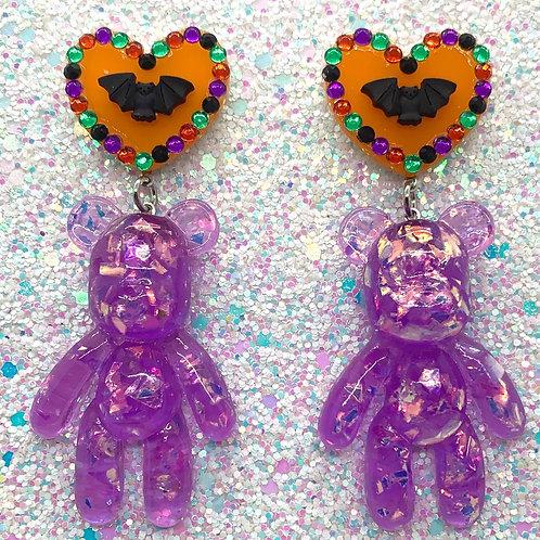 Purple Spoopy Sparkle Bears