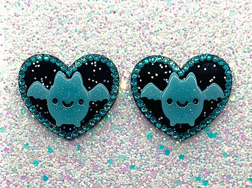 Going Batty hearts in Blue Night Sky