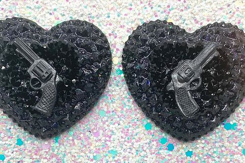Black Trixie Hearts