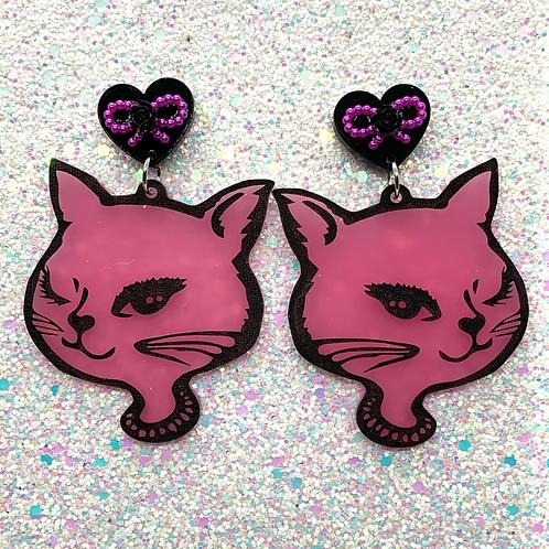 Pink & Black Kitty Girls