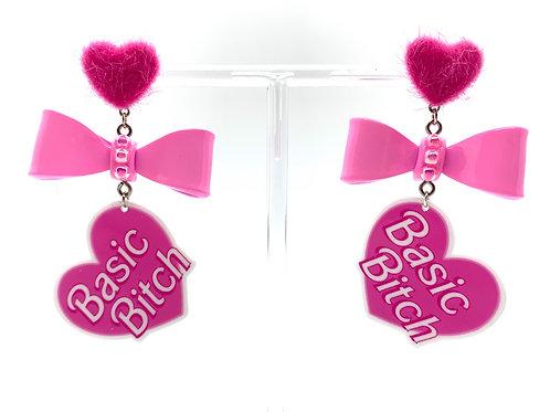 Fuzzy Heart BB Earrings