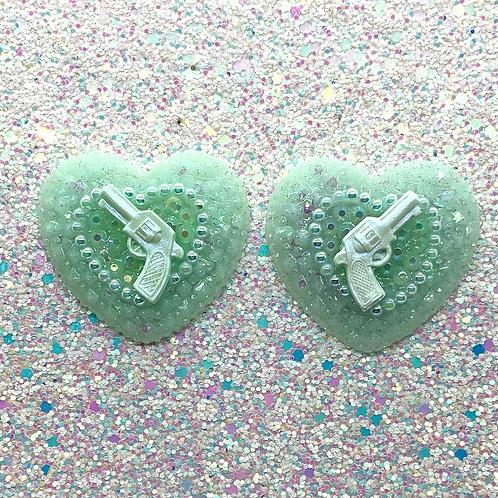 Seafoam Green Trixie Hearts
