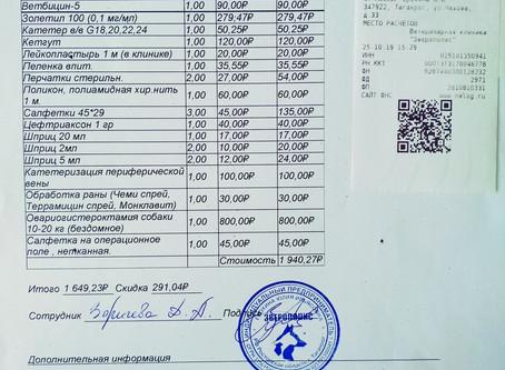 Отчет №53 Стерилизация собаки №19-70 Галочка, Стая ПРОМЗОНЫ Русского поля(Лада-Таганрог)