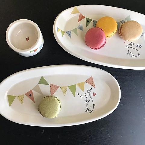 bunny bunting plates