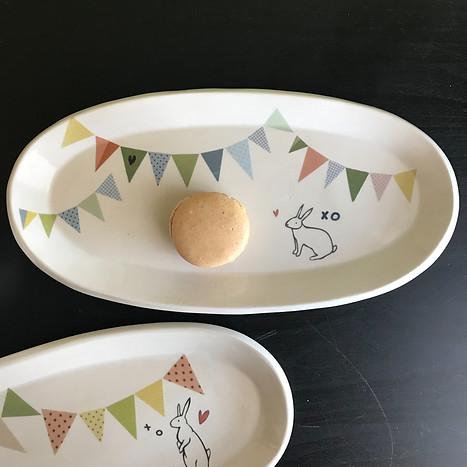 bunny bunting platter