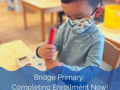 Bridge Primary: Completing Enrollment Now!