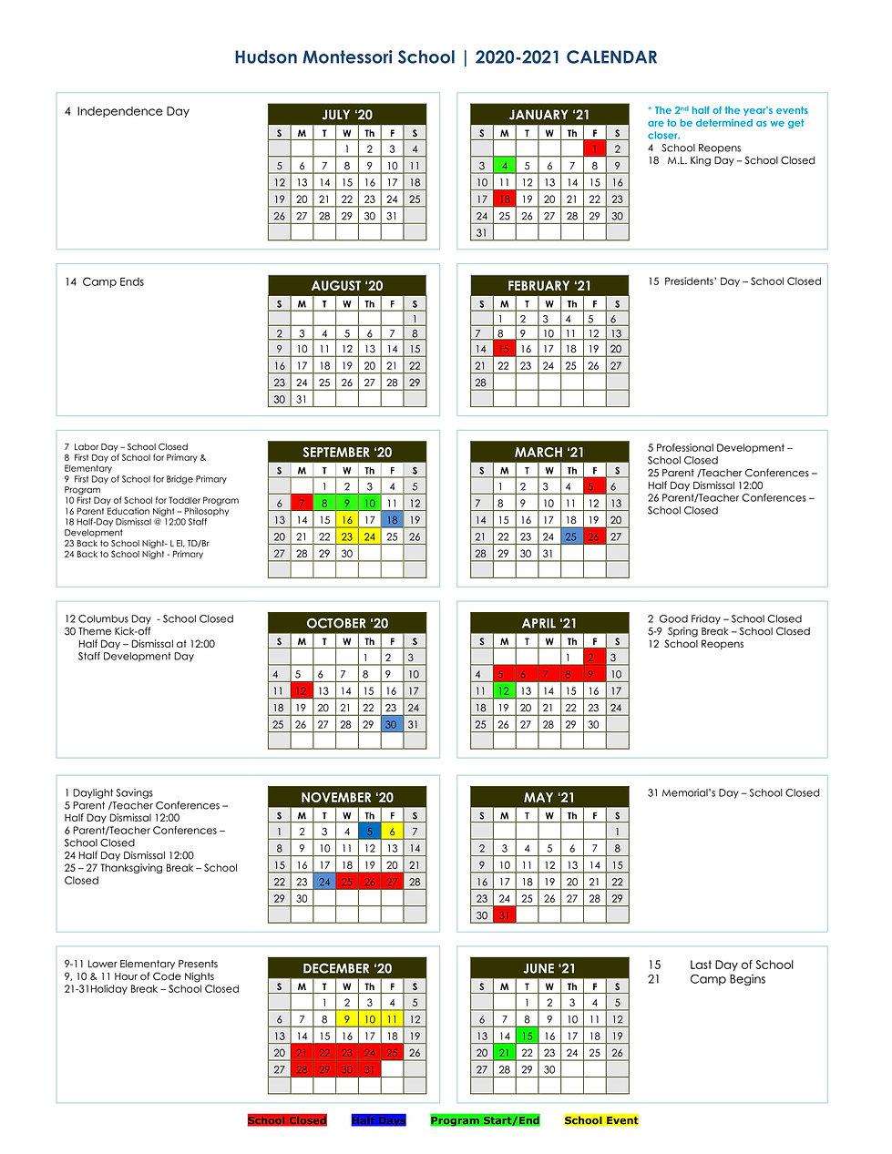 2020-2021 HMS Year-At-A-Glance Calendar-