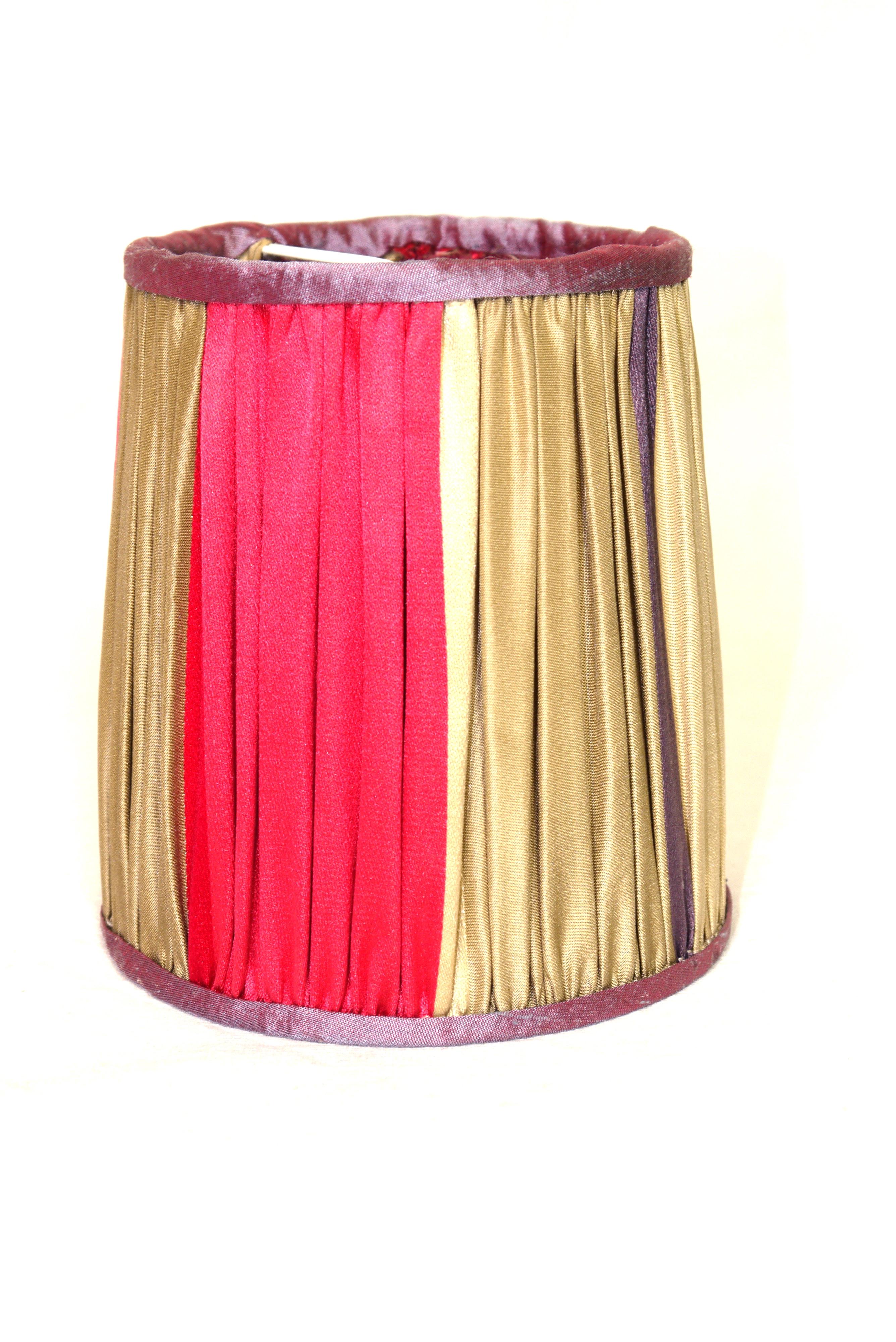 Froncé en soie tricolore