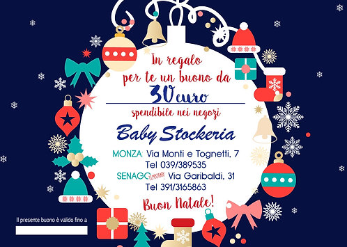 Buono Regalo Natale 2020 da 30 euro
